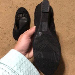 Seychelles Shoes - Black lace wedge heels